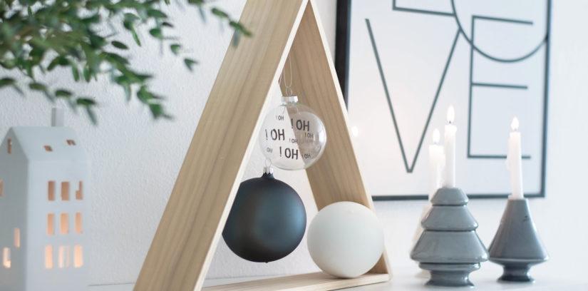 DIY Weihnachtsbaum für Minimalisten