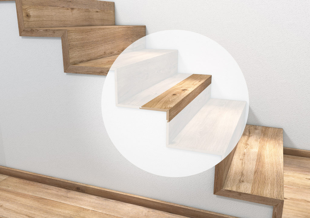 Stufenkantenprofil tilo einmal eingeschlagen