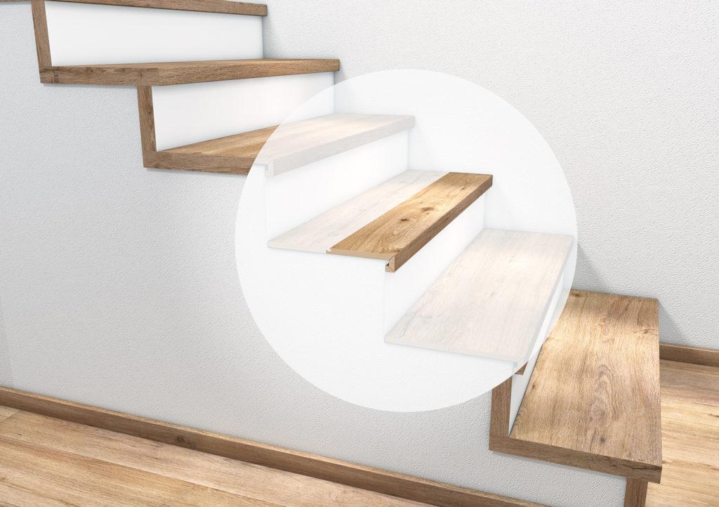 Stufenkantenprofil zweimal eingeschlagen tilo